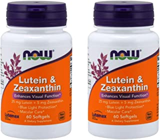 Now Foods, Lutein & Zeaxanthin, 60 Softgels - 2PC