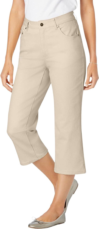 Woman Within Women's Plus Size Capri Stretch Jean