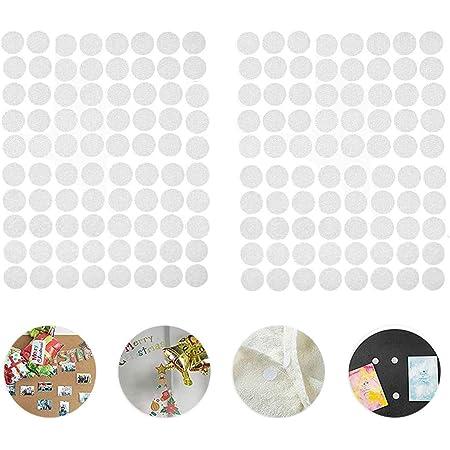 Supvox 900 St/ücke Haken Schleife Punkte Selbstklebende Punkte Klebrige R/ückseite M/ünzen 25Mm Schwarz
