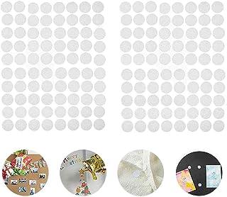 Scratch Autocollant Rond, 600 Paires 10mm Adhésif Rond, 1200 Capsules Cercles avec Crochets et Boucles Auto-adhésifs, Monn...