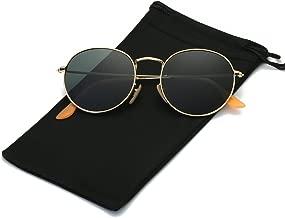 LKEYE Small Unisex Classic Vintage Round Mirror Lens Polarized Sunglasses LK1702 3447