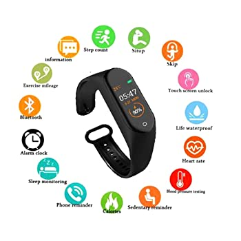 SHOPTOSHOP Fitness Band, Bluetooth - Multicolor