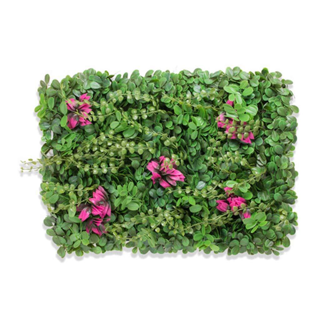 TELLW Artificielle Simulation Mur v/ég/étal Gazon pelouse synth/étique D/écoration Murale /à Suspendre Faux Plante en Plastique D/écoration Salon Fond Ombre Creative Vert Mural