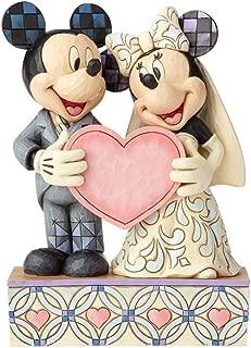 Enesco Jim Shore Disney Mickey and Minnie Wedding Figure 4059748 Personalize