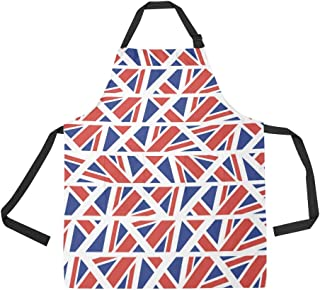 NQEONR Durable Flag Country Flag Retro Vintage Design All Over Print Apron with an Adjustable Neck&Two Spacious Front Pocketst Unisex Kitchen Home Restaurant Apron for Baking Gardening