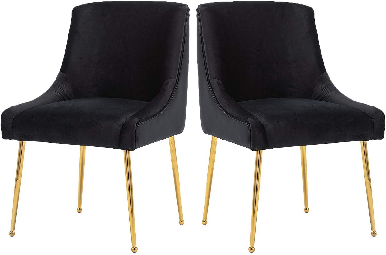 Guyou Modern Velvet 気質アップ Set of 2 C 日本 Office Dining Chairs Upholstered