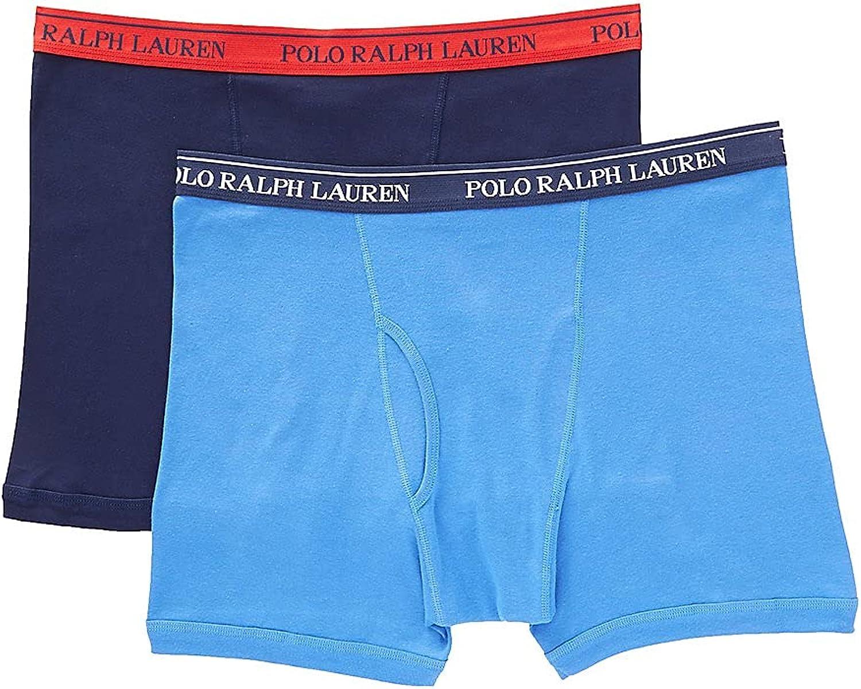 Polo Ralph Lauren Men's Big Man 100% Cotton Boxer Briefs - 2 Pack RXB2P2