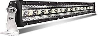 LED Light Bars for Trucks 32inch 3 Rows with Metal Brackets 50000lumens Off Road Driving Lights Upgraded LED Chips Fit SUV ATV UTV Boat, 5 Years Warranty