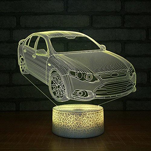 Nuevo coche 3D Kids Gift pequeño Night Light creativo colorido decorativo nuevo inusual personalizado pequeño 3D Kids Gift