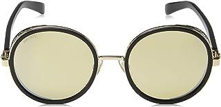 Jimmy Choo Women's Andie/N/S T4 2M2 54 Sunglasses, Black Gold Grey