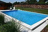 Summer Fun Styropor Schwimmbecken Set rechteckig inkl. Sandfilteranlage London 800 x 400 x 150 cm Tiefbeckenleiter