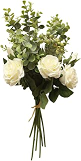 One Bunch Artificial Rose, Elegant Decor Fake Flower, Romantic Flower Bouquet Flora for Bridal Hydrangea Wedding Party Home Decor, Indoor & Outdoor Decor Gifts