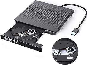 $21 » External CD/DVD Drive USB 3.0 Slim Portable High Speed Data Transfer CD/DVD-RW Drive/Writer/Burner/Rewriter/Player for MacBook Pro Laptop/Desktops Win 7/8/10 and Linux OS (Black)
