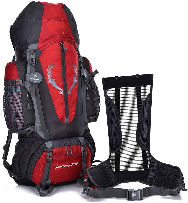 Wanderrucksäcke LIUSIYU 80L5L 80L5L 80L5L Trekkingrucksack, Damen & Herren wasserdicht mit Inengestell Hüftgurt-Tasche B07P3M79LR  Mode 6746d0