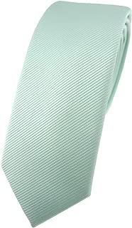 TigerTie schmale Designer Krawatte in einfarbig uni Rips gemustert