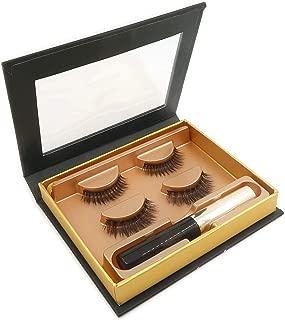 Avilana Magnetic Eyeliner and Magnetic Eyelashes Easy to Use False Lashes Made with Korean Silk Fiber, 5 Magnets Per Lash, Magnetic Eyeliner And Lashes Kit (Classy & Sassy