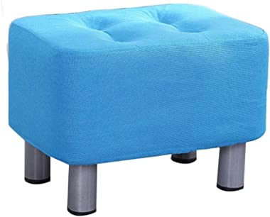 Foot Stool Ottoman Sofa Stool Small Footrest Fabric Upholstered Ottomans Rest Footstools Shoe Stools Solid Wood Decor Balcony