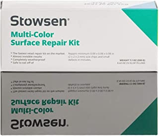 Multi-Color Surface Repair Kit - Fix Chips & Defects in Minutes | Restore Tiles Countertops and Bathroom Fixtures with Ease | for Porcelain Granite Fiberglass Marble Corian Quartz and More