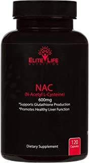 Pure NAC (N-Acetyl-L-Cysteine) 600mg - Best N-Acetyl Cysteine Supplement for Liver Support and Detox - USA Made L-Cysteine...