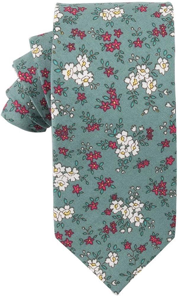 Floral Skinny Max 76% Store OFF Ties Cotton Neck Party Wedding Tie T Groomsmen