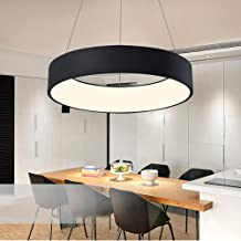 LED Ronde Dining Room Kroonluchter Eenvoudige Woonkamer Slaapkamer Studie Afstandsbediening Dimmen Kroonluchter 60 * 10cm...