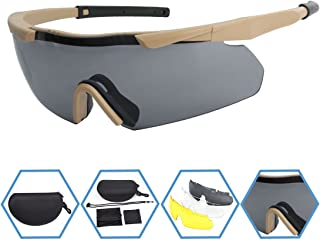 XAegis Tactical Eyewear 3 Interchangeable Lenses Outdoor Unisex Shooting Glasses