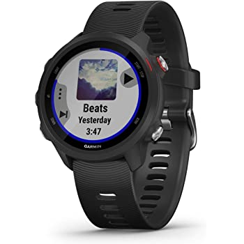 Garmin Multisportuhr Forerunner 245 Music GPS Black/red