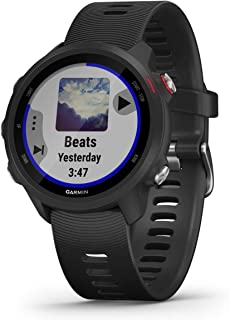 Garmin Forerunner 245, GPS Running Smartwatch with Advanced Dynamics, Black/Red