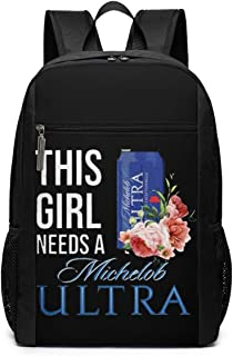 Boy's This Girl Need A Michelob Ultra Bag School Backpack
