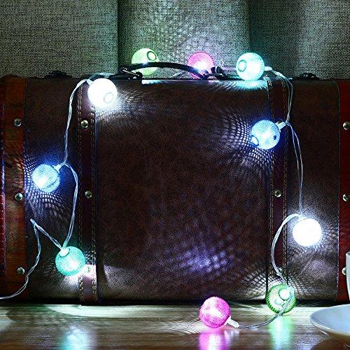 SZ Cadena de luces LED de 2 m, 20 luces LED de metal para festival, Navidad, Halloween, fiesta, boda, decoración con pilas (color: blanco)
