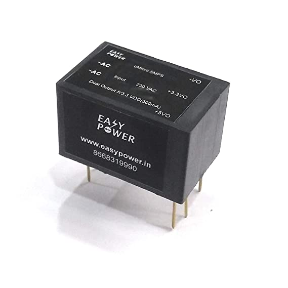 Easy Power AC-DC Dual Output 230V Mains to 5V-3.3V Step Down Buck Isolated PCB Mountable Module