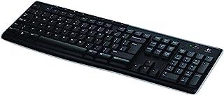 Logitech K270 Teclado Inalámbrico para Windows, 2,4 GHz con Receptor USB Unifying, 8 Teclas Programables, Batería 24 Meses, Disposición QWERTY Escandinavo, Color Negro