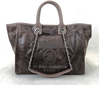 Exclusive Brand World Glazed Deauville Style Calfskin LargeTote Women Bag