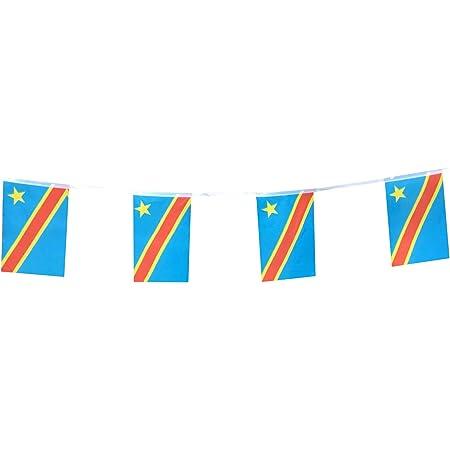 Banderas De La República Del Congo Bandera De La República Democrática Del Congo Bandera De Pequeño Cordón Banderas De Mini País Nacional Del Mundo Banderas Banderines Para Fiestas Aulas Festivales De