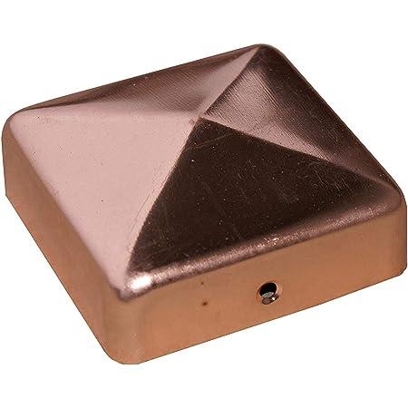 inkl Kupfer-N/ägel Pfostenkappe Zaunkappe Schutzkappe Zierkappe Kupfer Pyramide f/ür Pfosten 12x12 cm