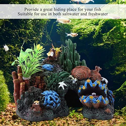 cersalt Resin Coral Decor, Marine Fish Tank Aquarium Ornament Colorful And Vivid Flexible And Realistic Artificial Resin Coral, for Fish Tank Aquarium