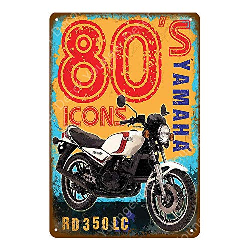 ZYZRYP Tinplate Wall Art Motor Oil Metal Sign Classic Motorcycle Poster Retro Painting Bar Garage Decoration 20x30cm YD9416J