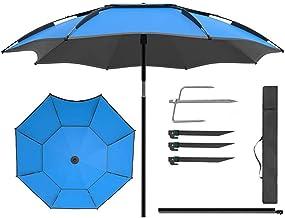 Patio-paraplu, tuinparasol Vissersparaplu Outdoor-paraplu 2 m (6,5 ft) / 2,2 m (7,2 ft) / 2,4 m (7,8 ft) 360 °;Verstelbar...
