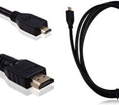 Durpower 3FT Micro HDMI Video/Audio Output HDTV TV Cable Lead Cord For Samsung Camcorder HMX-F90 BN F90BP F90SN