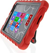 Gumdrop Cases Hideaway Stand for Dell Venue 8 Pro 5830 Rugged Tablet Case Shock Absorbing Cover Red/Black 5830