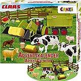 CRAZE Premium Adviento CLAAS 2019 Calendario de Tractores de Juguete para niños en Navidad 19597, coloré