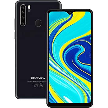 "Unlocked Smartphones, Blackview A80 Pro, Dual Sim Unlocked Cell Phones, Bundle Andorid 9.0 Phone 4GB+64GB ROM, 6.5"" HD Fingerprint Detection, 4680mAh Capacity Battery, 4G GSM Network Unlocked Phones"