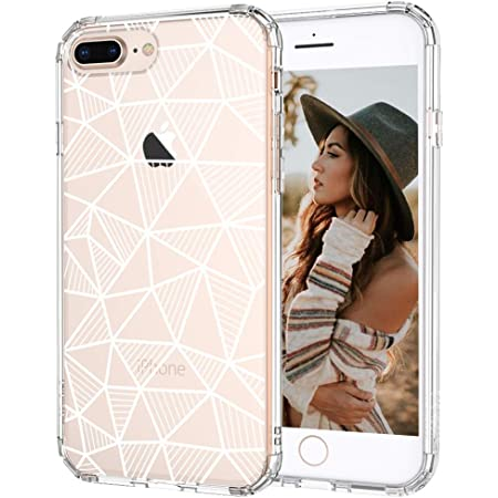 MOSNOVO Geometric Pattern Designed for iPhone 8 Plus Case/iPhone 7 Plus Case - Clear