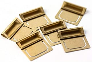 JoyTong Brass Index Clip - Paper Tabs File Bookmarks Page Clip,Pack of 6