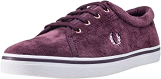 Fred Perry Aubyn Velour Womens Sneakers Maroon