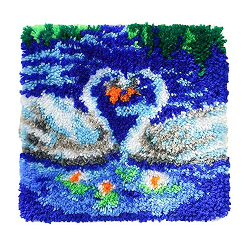 Bonarty Kits de Gancho de Pestillo Cojín Funda de Almohada Crochet Hobby Crafts DIY para Arte de Bordado