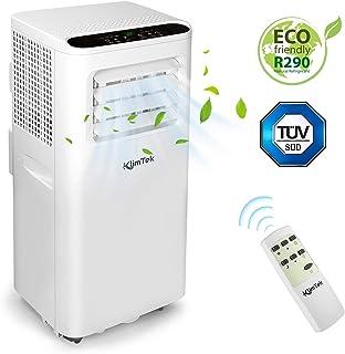 KlimTek Aire Acondicionado Portátil, 3 en 1 con Enfriamiento, Ventilador y Deshumidificador de 7000 BTU/h, para Habitaciones de hasta 60 m3 (25 m2) [Clase de eficiencia energética A]
