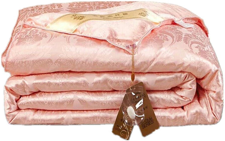 100% Pure Couette Blanche De Soie De Mûre Blanche Naturelle Remplie édrougeon pour Toutes Les Saisons King Queen Taille Quilt (Couleur Jade),180  220cm3kg