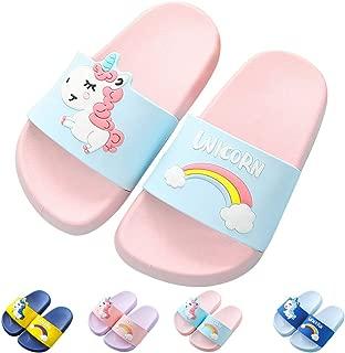 Kids Unicorn Slide Sandals Non-Slip Summer Beach Water Shoes Boys Girls Shower Pool Slippers(Toddler/Little Kids)