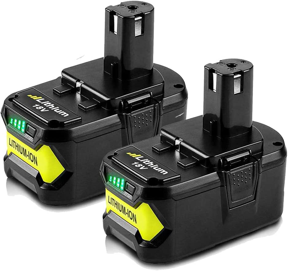 2 Packs Max 75% OFF Some reservation 6.0Ah 18V Replacement Lithium Batt for Ryobi Battery